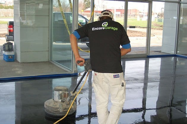 Garage Flooring Coating for Luxuary Car Dealership in Chicago